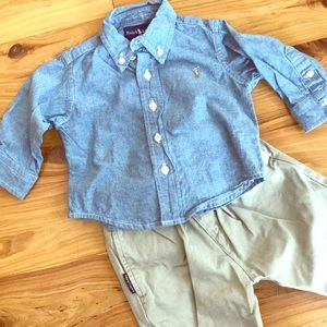 Ralph Lauren 3-6 Month Prep Outfit Like new!